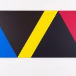 Claude Tousignant, Variation 59 : série de cinq tableaux a structure identique, symétrique et réversible, trouvé par hazard #2, 2019
