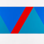 Claude Tousignant, Variation 59 : série de cinq tableaux a structure identique, symétrique et réversible, trouvé par hazard #3, 2019