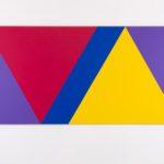 Claude Tousignant, Variation 59 : série de cinq tableaux a structure identique, symétrique et réversible, trouvé par hazard #4, 2019