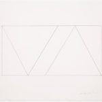 Claude Tousignant, Variation 59 : série de cinq tableaux a structure identique, symétrique et réversible, trouvé par hazard, 2018