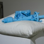 Clint Neufeld, Blue Pillow with Blue Tailstock, 2013