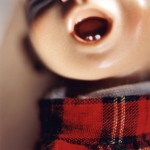 Diana Thorneycroft, Doll Mouth (red plaid), 2005